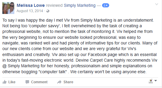 Devine Carpet Care and Simply Marketing
